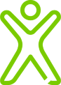 green person graphic icon