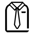 shirt with tie icon