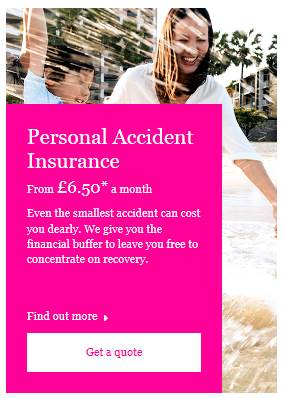 Personal Accident Insurance Quote